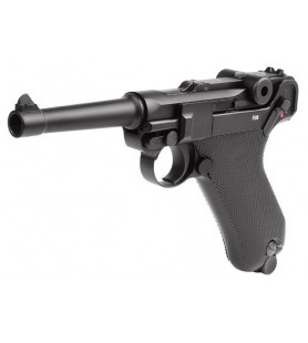 KWC PISTOLA CO2 P-08 BLOWBACK, FULL METAL, 4.5 (Luger)