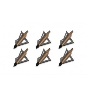 MAXIMAL PONTA CAÇA CUTBACK  BROADHEADS 100 /125 Gr. (6 un)