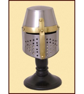 MINIATURA CAPACETE GREAT HELM C/ STAND